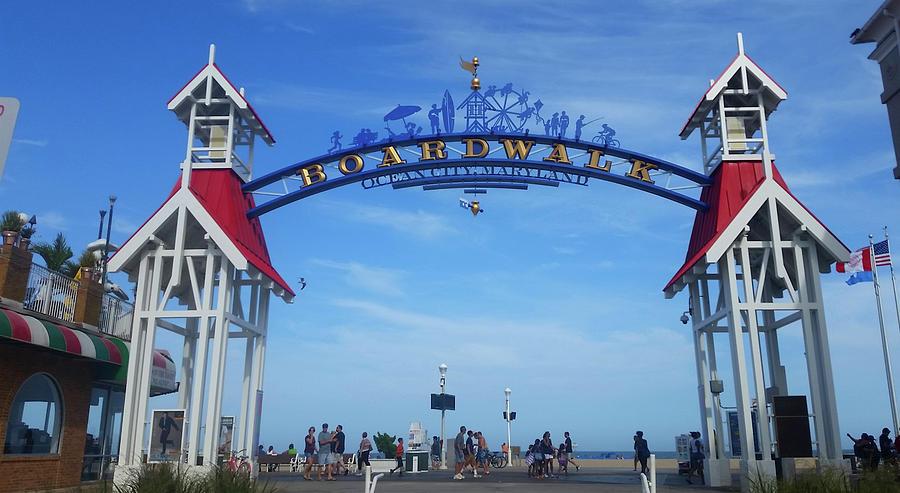 Ocean City Boardwalk Arch by Robert Banach