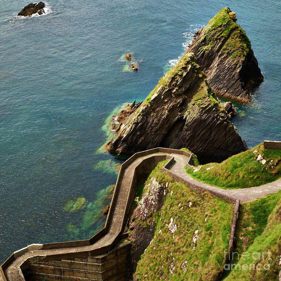 Slea Head Drive Photograph - Ocean Path by David Cordner
