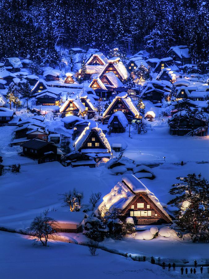 Ogimachi Village Of Shirakawa-go During Photograph by Agustin Rafael C. Reyes