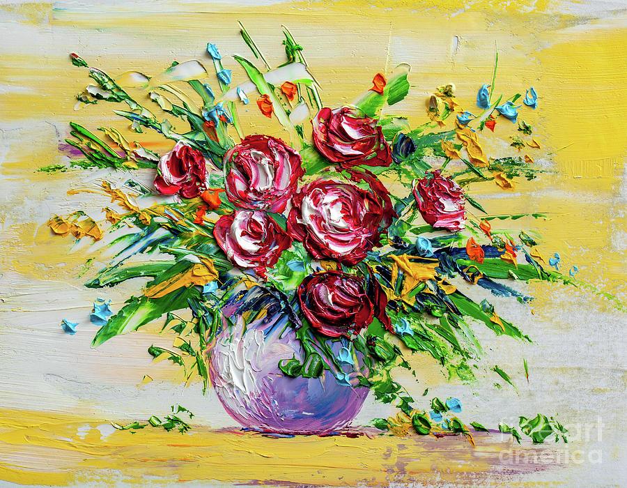 Oil Painting Flowers Digital Art by Sbelov