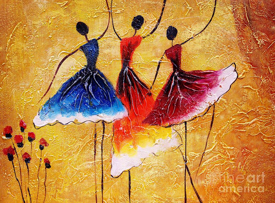 Small Digital Art - Oil Painting - Spanish Dance by Cyc