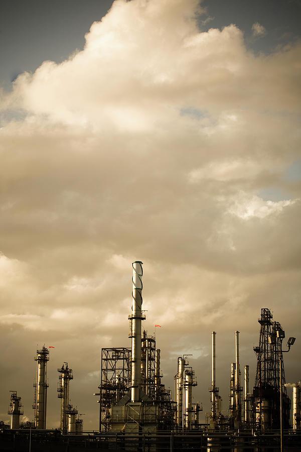 Oil Refinery Photograph by Halbergman