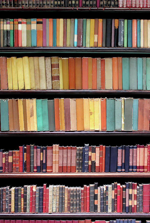 Old Books In A Library Photograph by Luoman