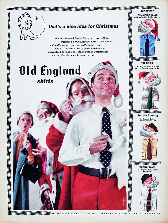 Old England Shirts Photograph by Picture Post