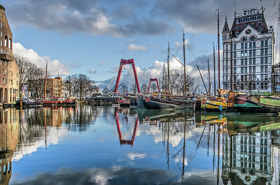Old Harbour Reflection by Frans Blok