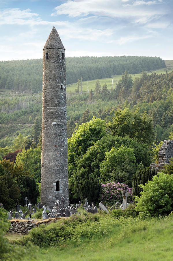 Scenic Photograph - Old Round Tower by Mammuth