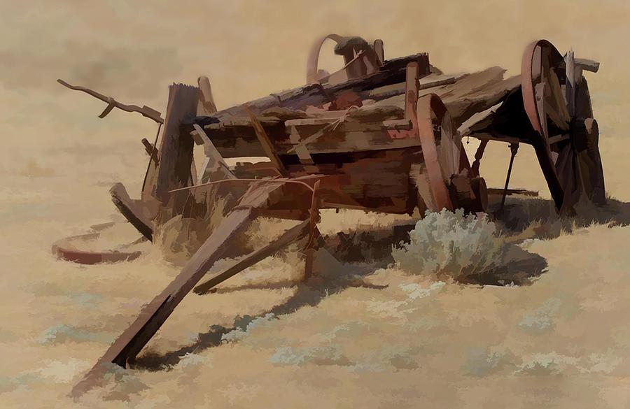 Old Wagon by Floyd Hopper