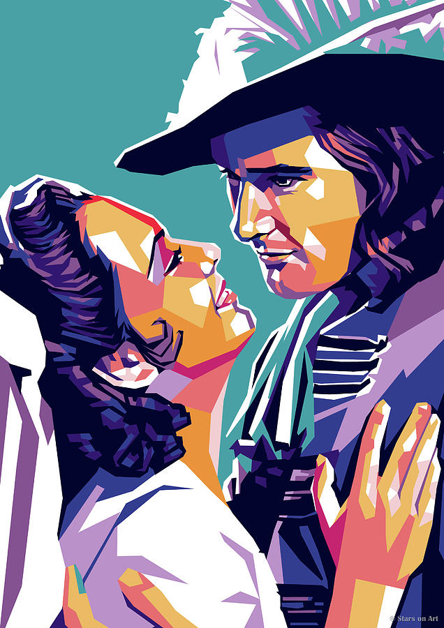 Olivia De Havilland And Errol Flynn Digital Art