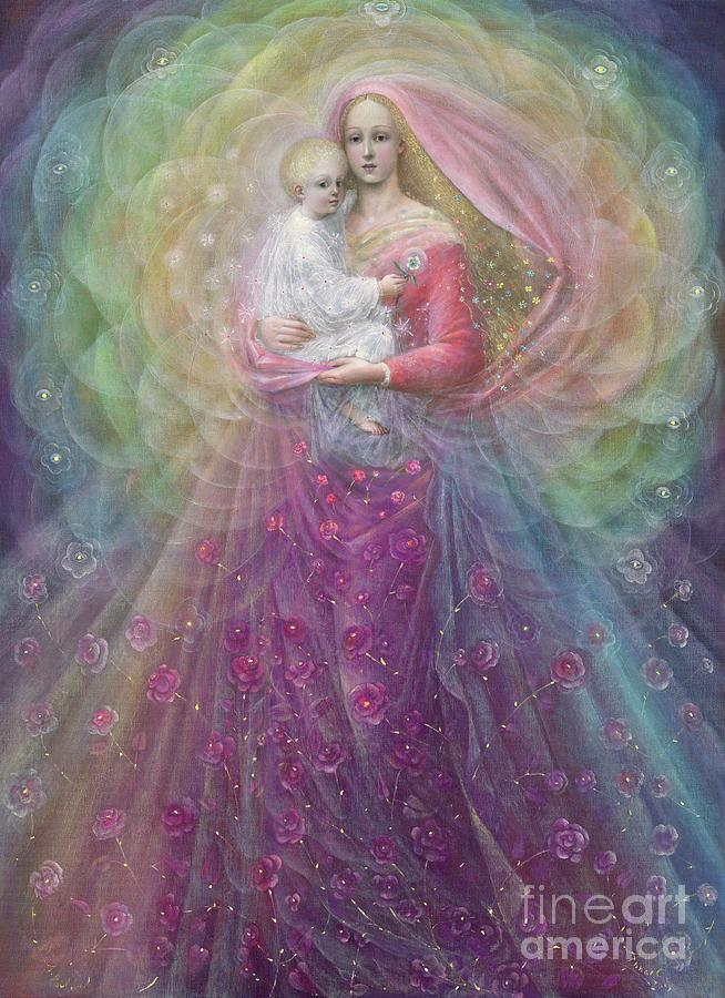 Spiritual Painting - Ora Pro Nobis by Annael Anelia Pavlova