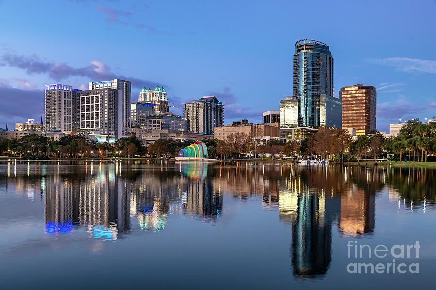 America Photograph - Orlando Skyline by John Greim