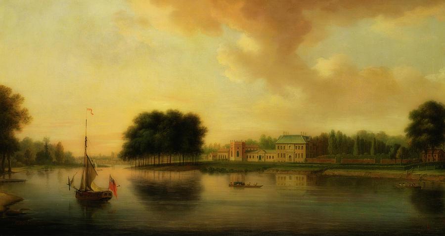 Painting Painting - Orleans House, Twickenham by Joseph Nickolls