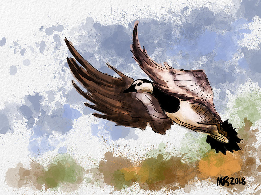 Birds Digital Art - Over The Marsh  by Michael Kallstrom