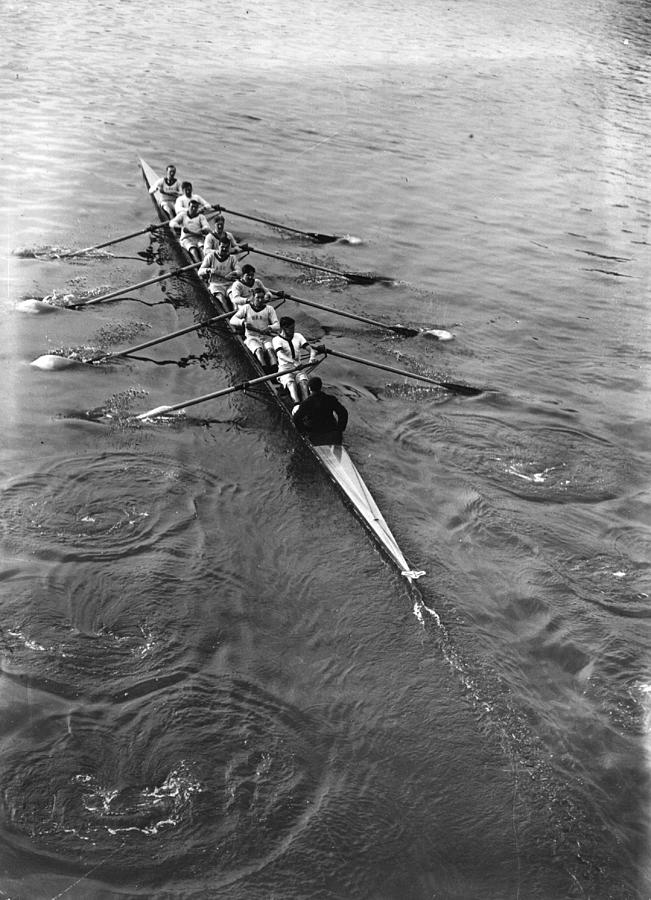 Oxford  Oarsmen Photograph by Topical Press Agency