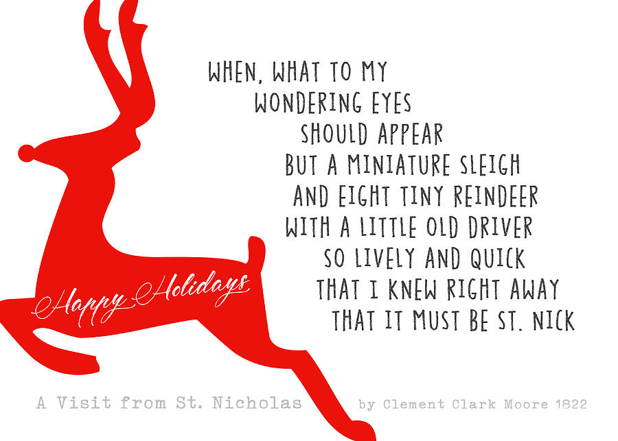 Painted Reindeer Quote Photograph