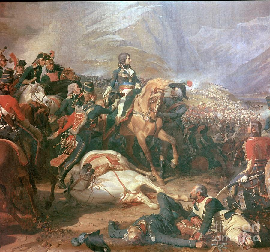 Painting Of Napoleon At The Battle Drawing by Print Collector