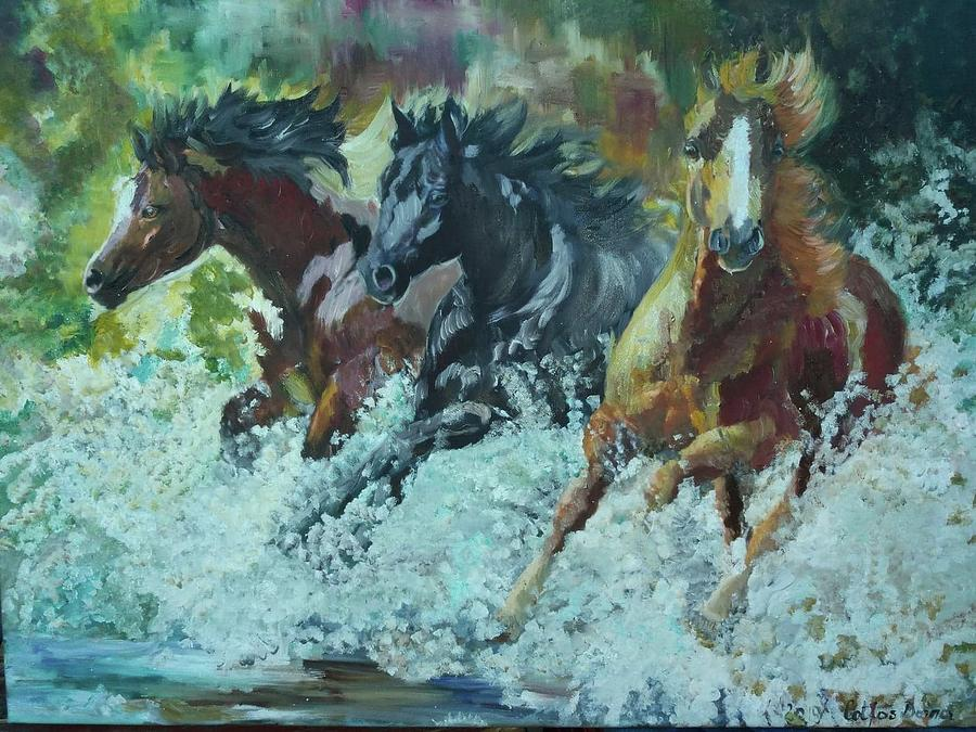 Painting oil on canvas by Cotfas Doina