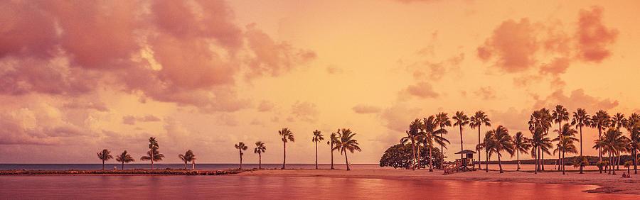 Scenic Photograph - Panorama Beach Miami by Thepalmer