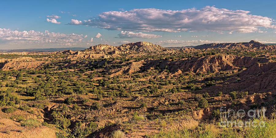 Panorama Of Nambe Badlands On The High Road To Taos - Chimayo New Mexico Land Of Enchantment Photograph
