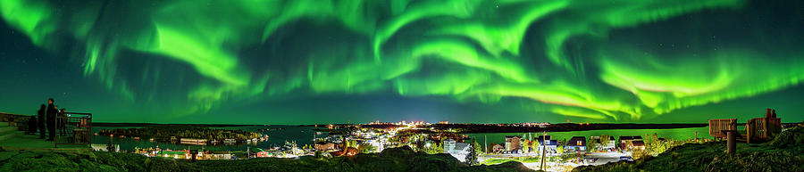 Panorama Of The Northern Lights by Alan Dyer