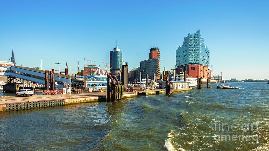 Panoramic view of Hamburg. by Marina Usmanskaya
