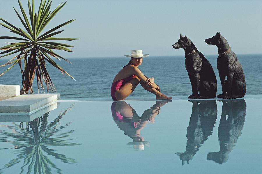 Pantz Pool Photograph by Slim Aarons