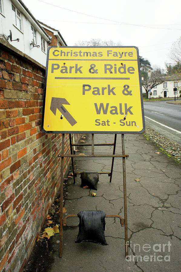 Annual Photograph - Park And Ride Sign by Tom Gowanlock