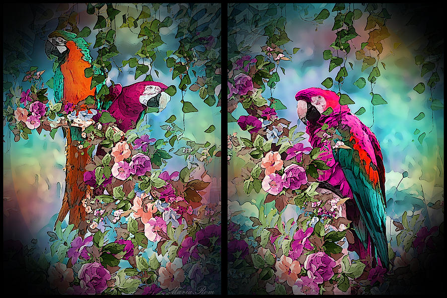 Parrot in the land by MARIA ROM