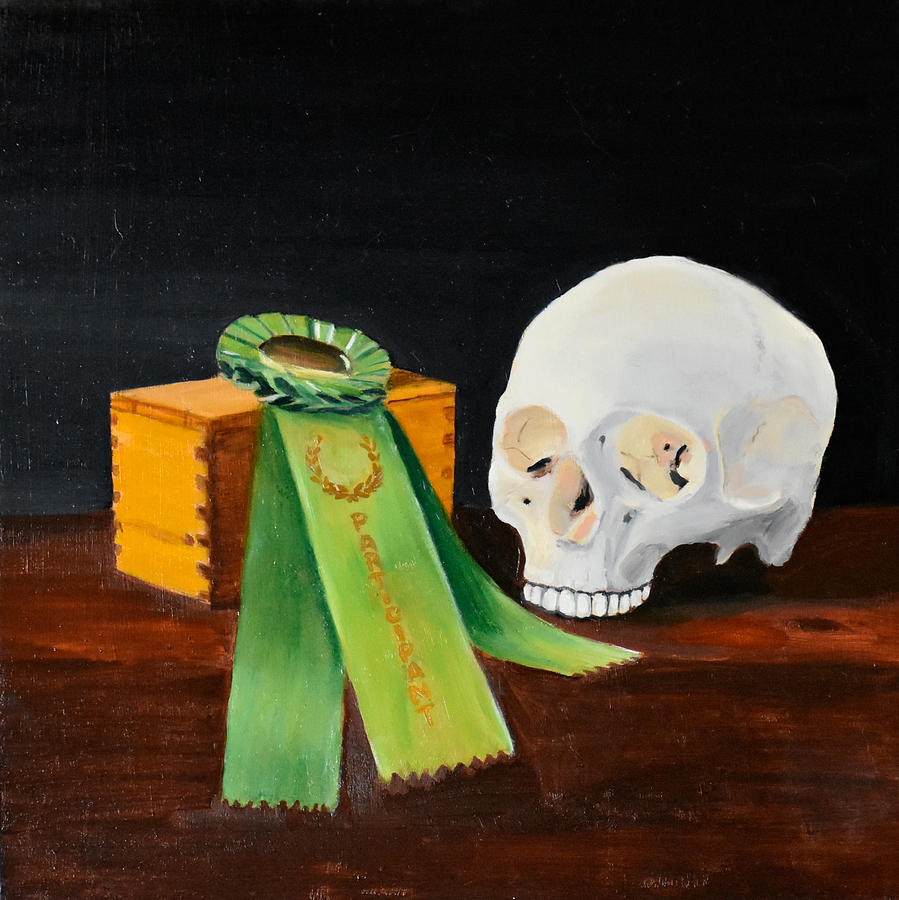 Skull Painting - Participant by Emily Warren