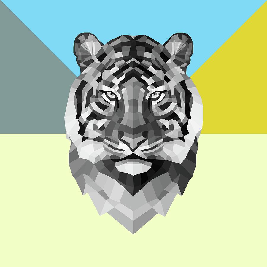 Tiger Digital Art - Party Tiger by Naxart Studio