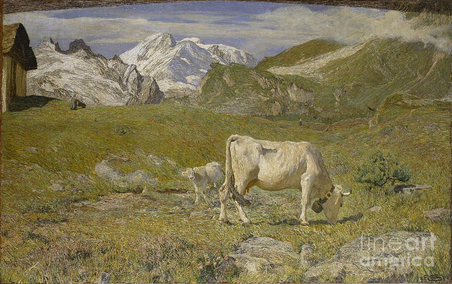 Pascoli Di Primavera Spring Pastures Drawing by Heritage Images