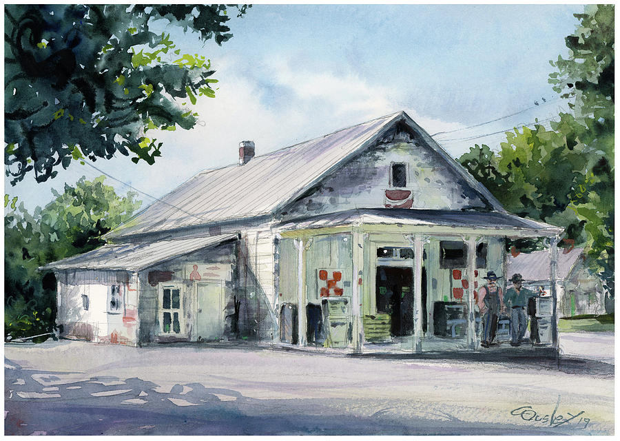 Lascassas Painting - Pearcys General Store 1 by Chris Ousley