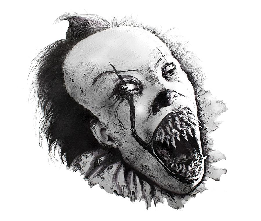 Pennywise The Dancing Clown Drawing by Ivan Florentino Ramirez