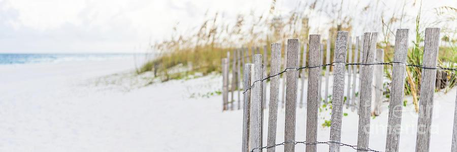 America Photograph - Pensacola Florida Beach Fence Panorama Photo by Paul Velgos
