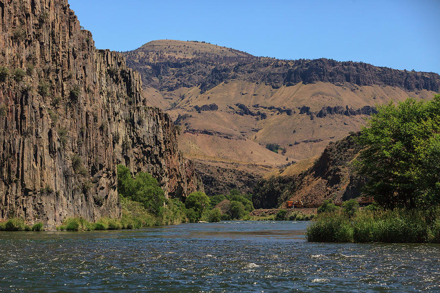 Copy Space Photograph - People Fly Fishing, Lower Deschutes by Stuart Westmorland