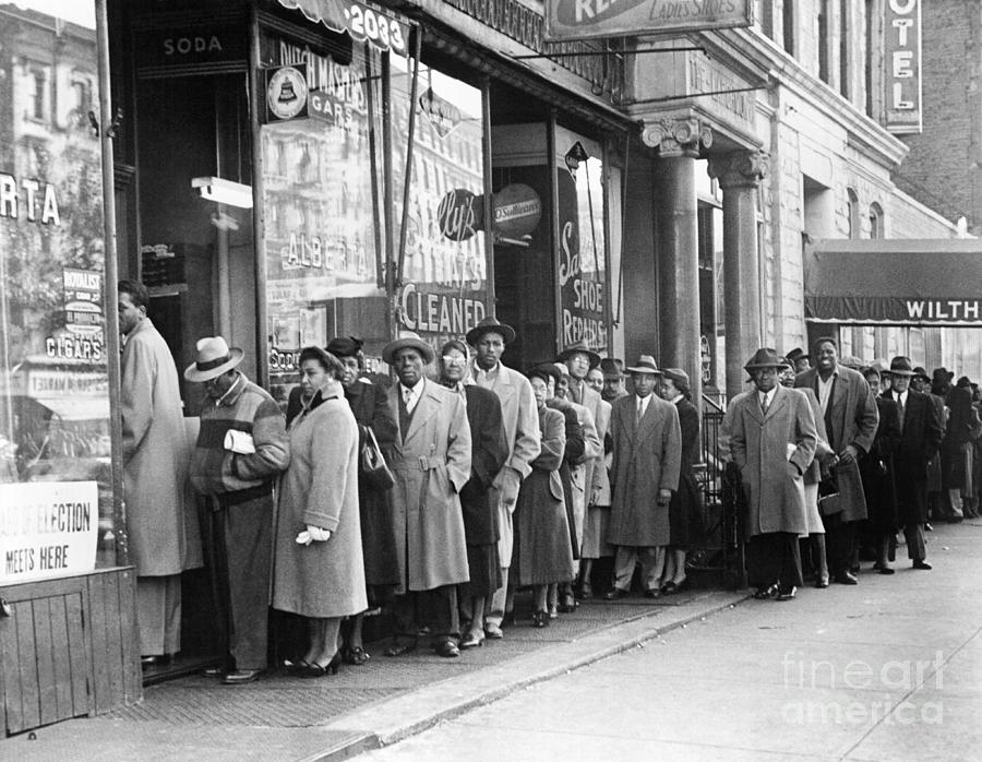 People Waiting On Line To Vote Photograph by Bettmann