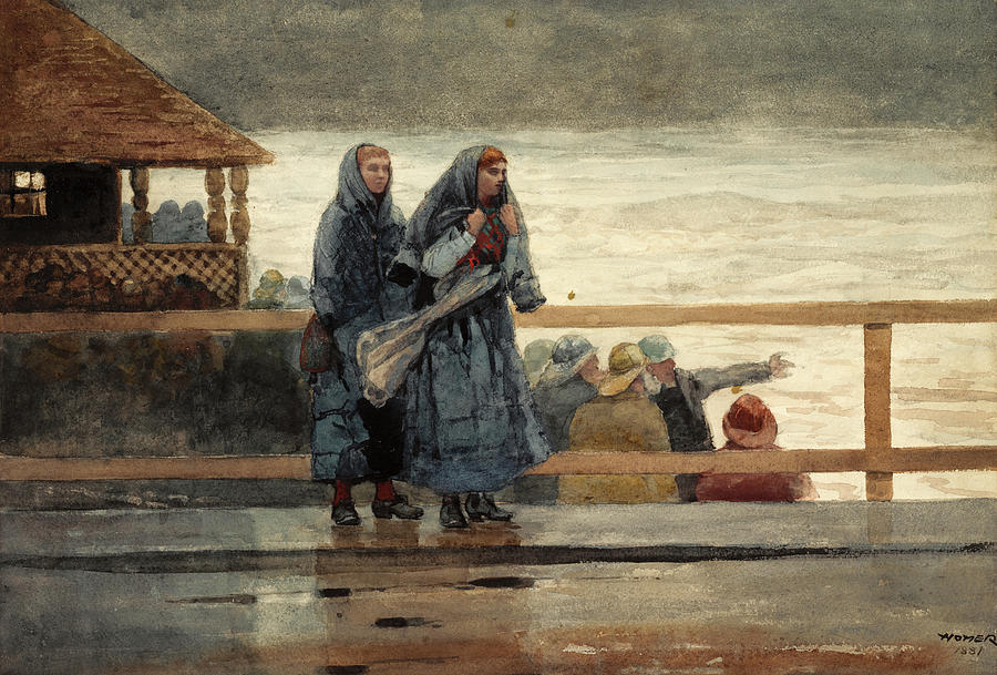 Winslow Homer Painting - Perils Of The Sea by Winslow Homer