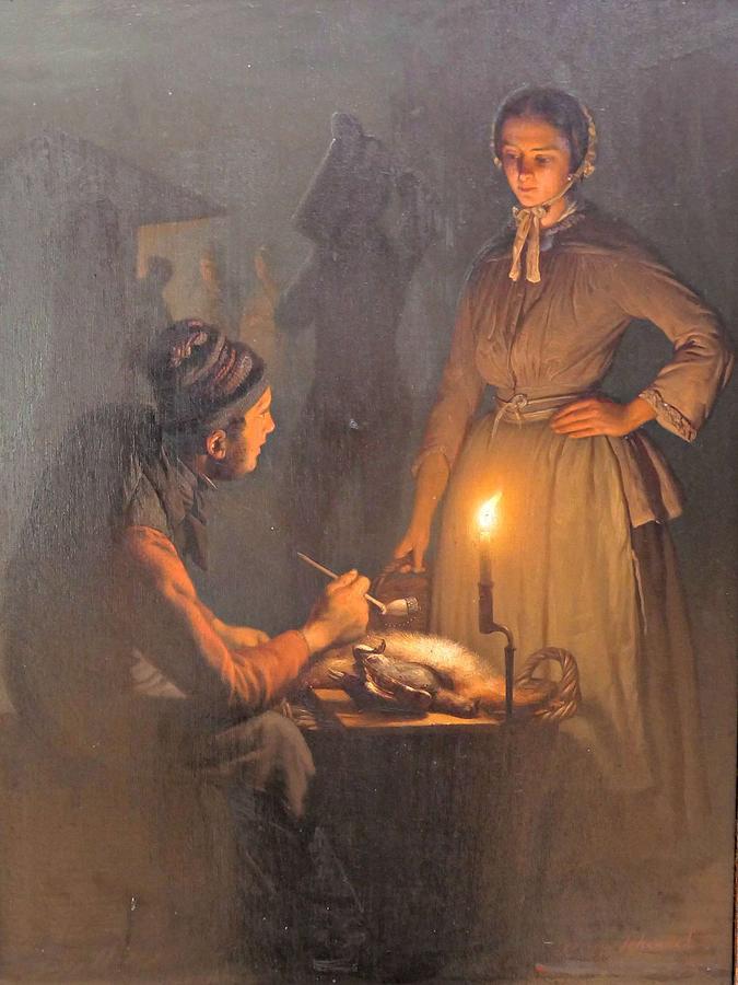 Petrus Van SCHENDEL  1806-1870   Market night by Celestial Images