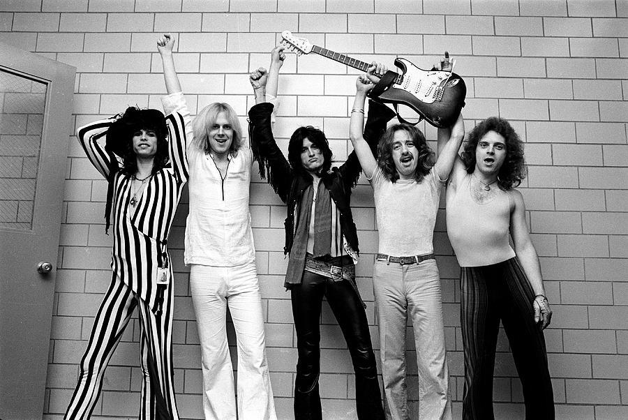 Tom Hamilton Photograph - Photo Of Aerosmith And Tom Hamilton And by Fin Costello