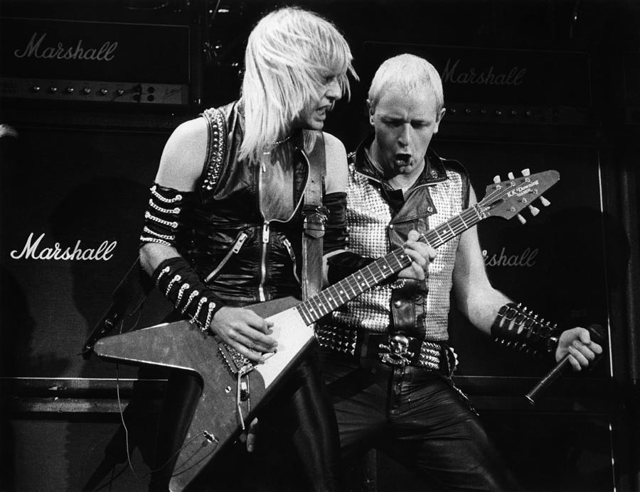 K.k. Downing Photograph - Photo Of Judas Priest And Rob Halford by Pete Cronin