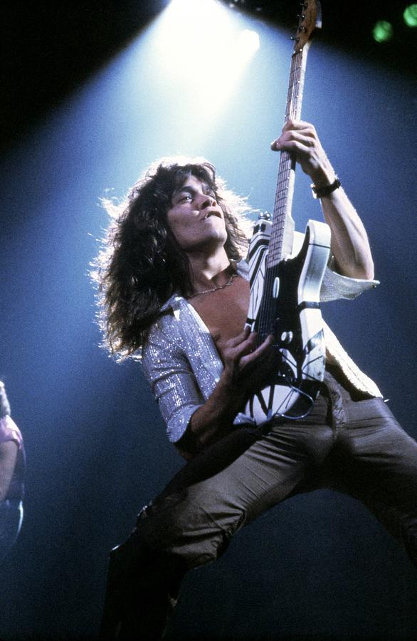 Photo Of Van Halen And Eddie Van Halen Photograph by Fin Costello