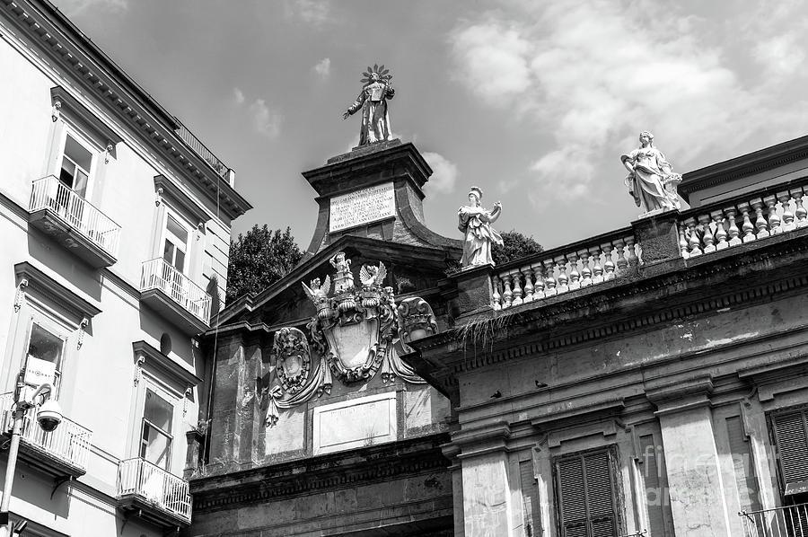 Architecture Photograph - Piazza Dante Architecture In Naples by John Rizzuto