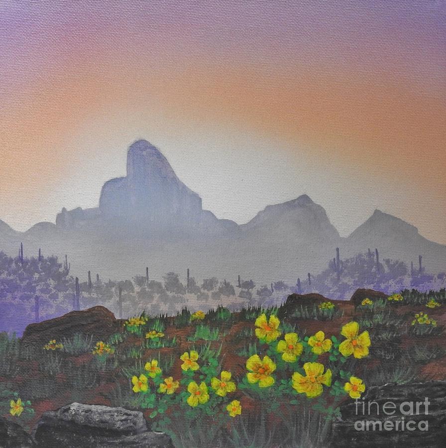 Picacho Peak Poppies by Jerry Bokowski