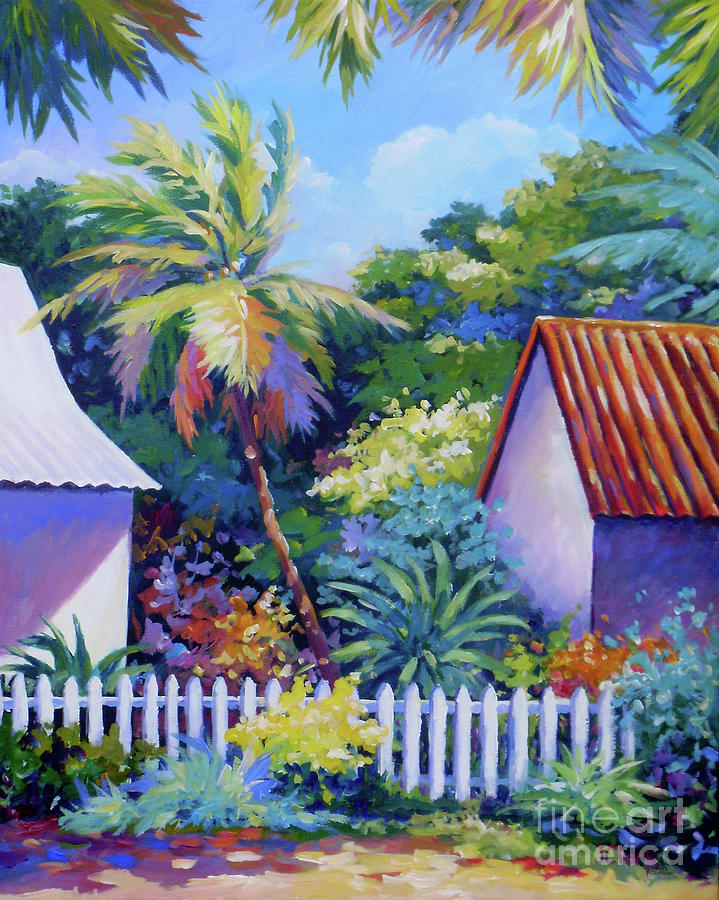 Picket Painting - Picket Fence by John Clark