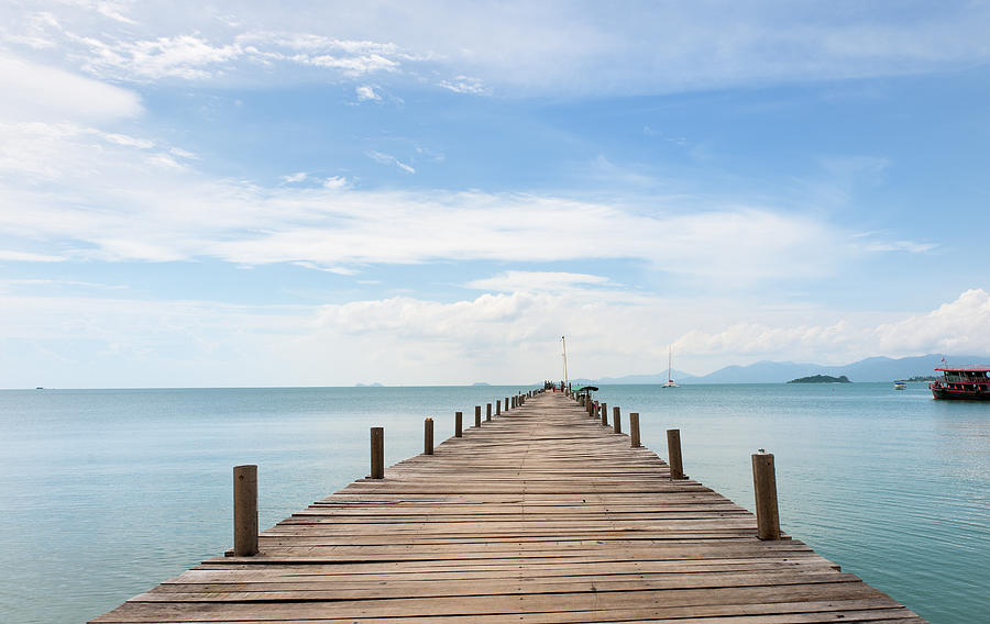 Pier On Koh Samui Island In Thailand Photograph by Pidjoe