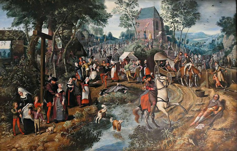 Pieter AERTSEN  1507 1575 - Return of a pilmigrage to Saint Anthony by Celestial Images