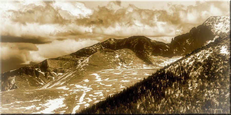 Pikes Peak, Colorado Rocky Mountains by A Gurmankin