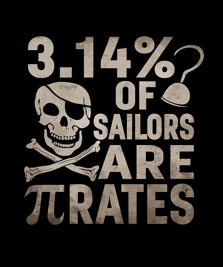 Pirate Pi Day Pun Science Tshirt March 14 320