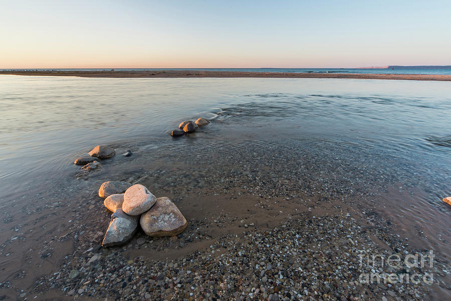 Platte River Photograph - Platte River Mouth At Sunset by Twenty Two North Photography