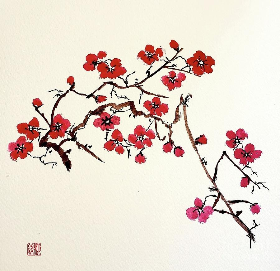 Plum Blossoms by Margaret Welsh Willowsilk