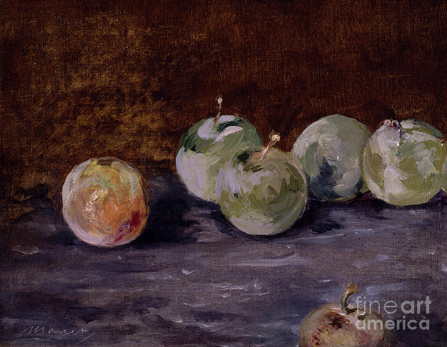 Plums by Edouard Manet